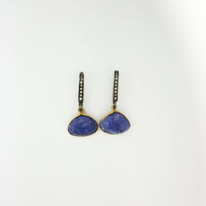 18k tanzanite drop earrings
