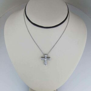 18kt exquisite handmade castle cross