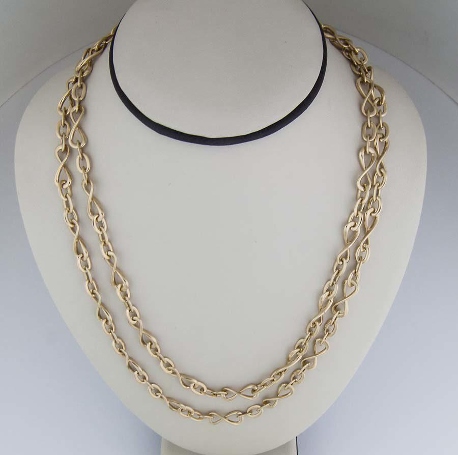 18k xl infinity chain necklace
