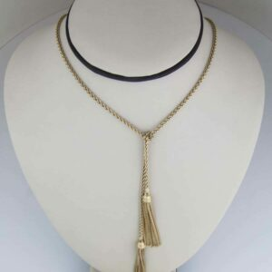 Long yg chain with tassels