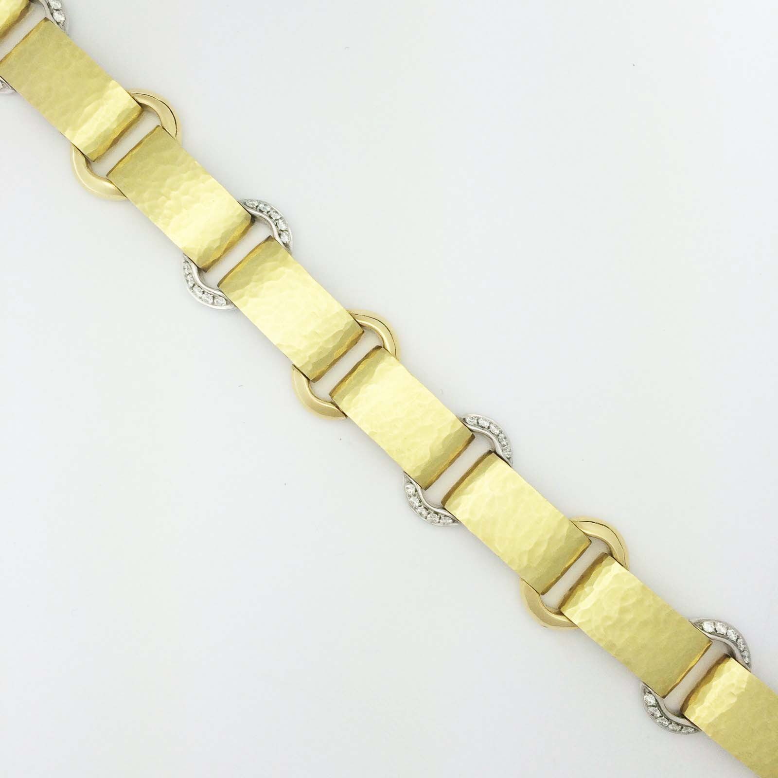 Vendorafa handmade bracelet in 18k yellow gold with diamonds