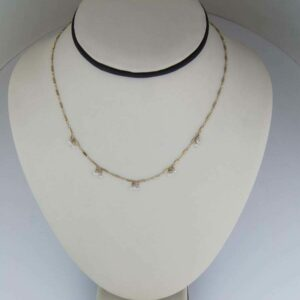 18k diamond briolette necklace