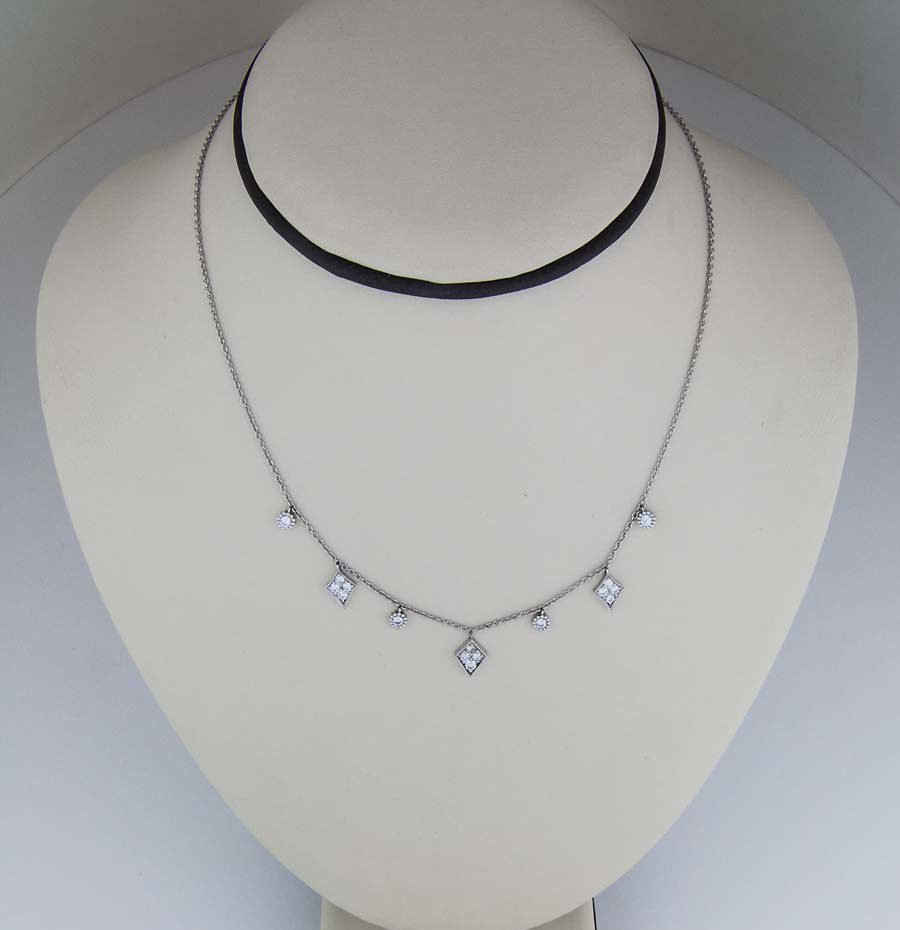 18k charm necklace with dimaonds