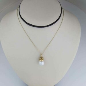 10 mm south sea pearl pendant with gold bale
