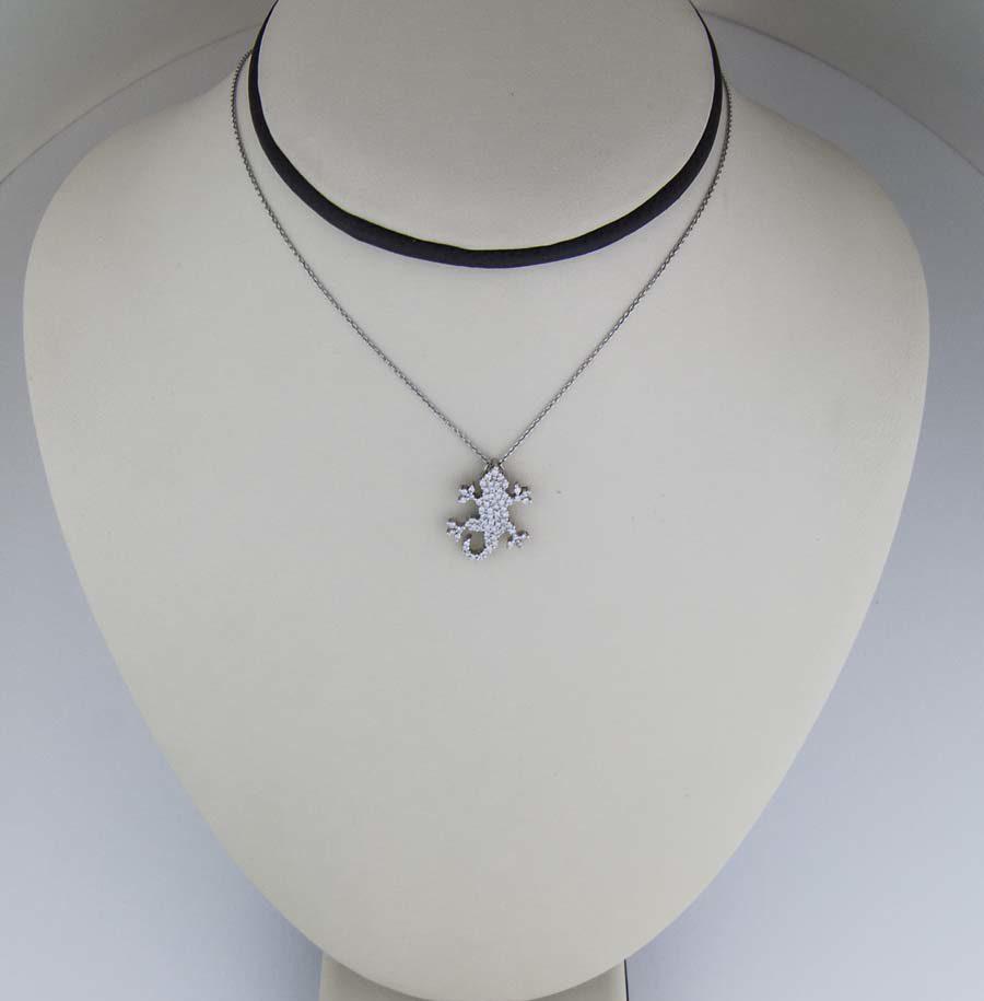Roberto Coin diamond Lizard pendant in 18k