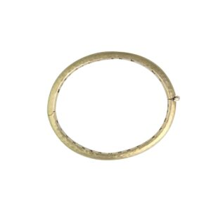 18k yellow gold hand forged bangle
