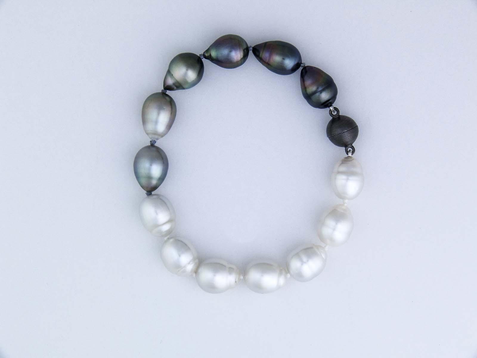 South sea and tahitian pearl bracelet