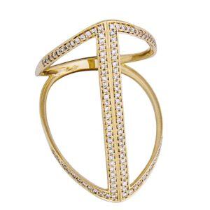 funky diamond bar ring