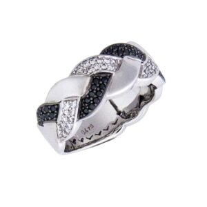 18k hand made woven ring