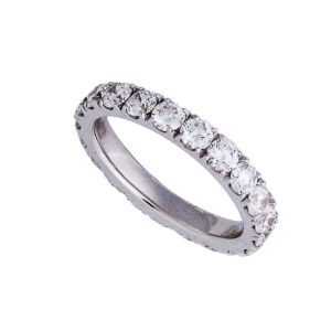 18 k white gold eternity ring