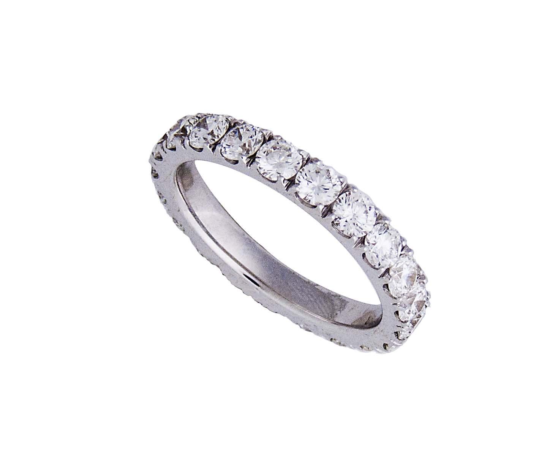 18 k white gold eternity ring