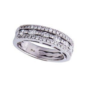18k white gold handmade diamond ring