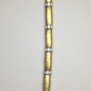 18k yellow gold and diamond bracelet by Vendorafa