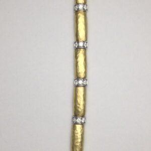 18k yellow gold and diamond bracelet by Vendorafa