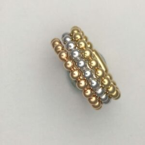18k gold stackable rings.
