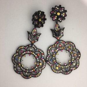 Funky sapphire earrings