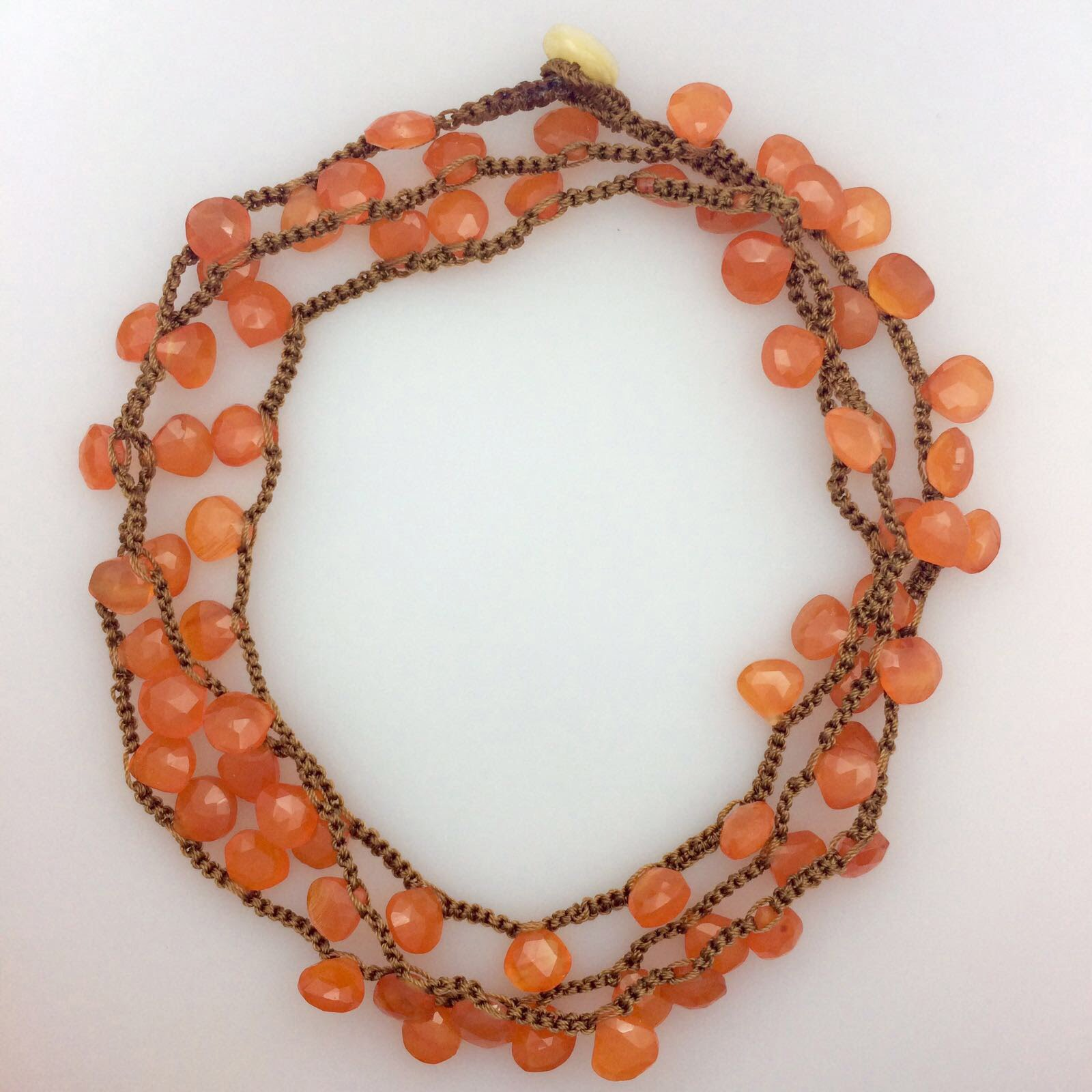 semi precious Carnelian necklace